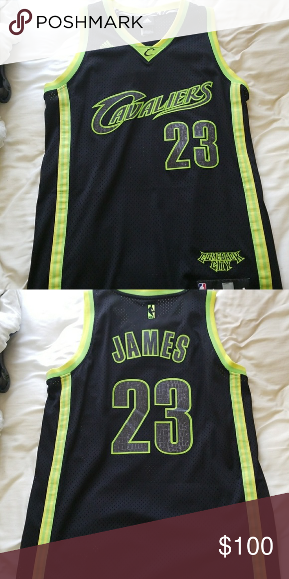 info for d257a d1718 Cleveland Cavaliers Comeback City Jersey LeBron Large Adidas ...