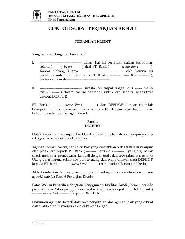 Surat Perjanjian Kredit Hp : surat, perjanjian, kredit, Hasil, Gambar, Untuk, Contoh, Surat, Perjanjian, Kredit, Surat,, Perpustakaan,, Universitas