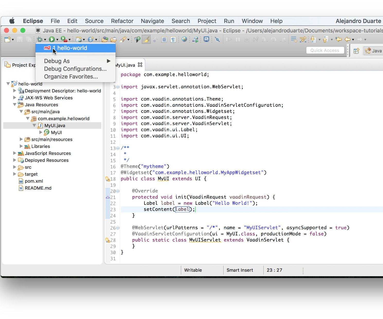 How to create web applications with java web application