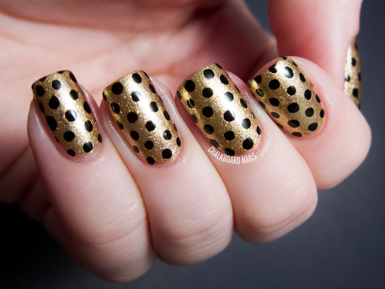 Party Perfect: Black and Gold Nail Art Ideas | Gold nail art, Gold ...