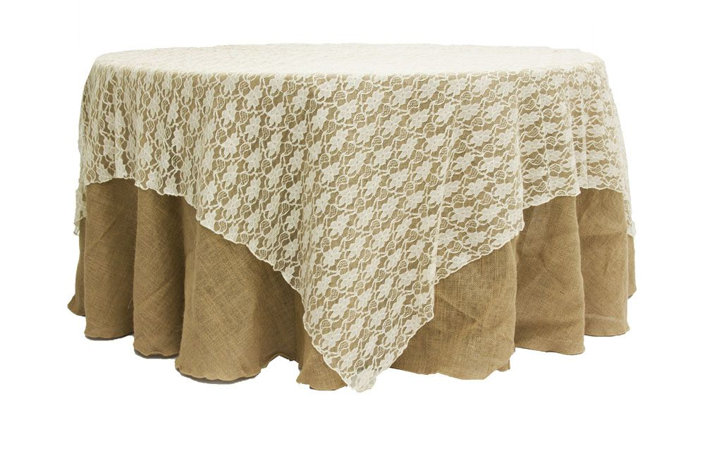 90 X90 Square Lace Table Overlay Topper Ivory Table Overlays