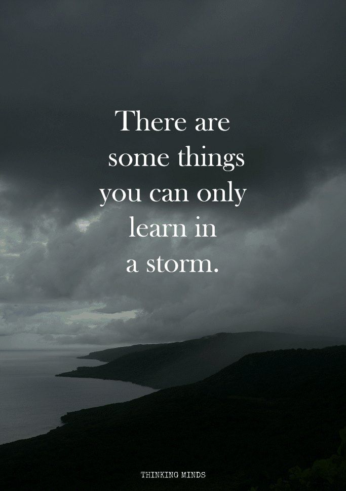 Cloud Quotes There Are Some Things You Can Only Learn In A Storm  Q U O T E S