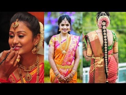 Traditional South Indian Bridal Makeup Hairstyle Step By Step