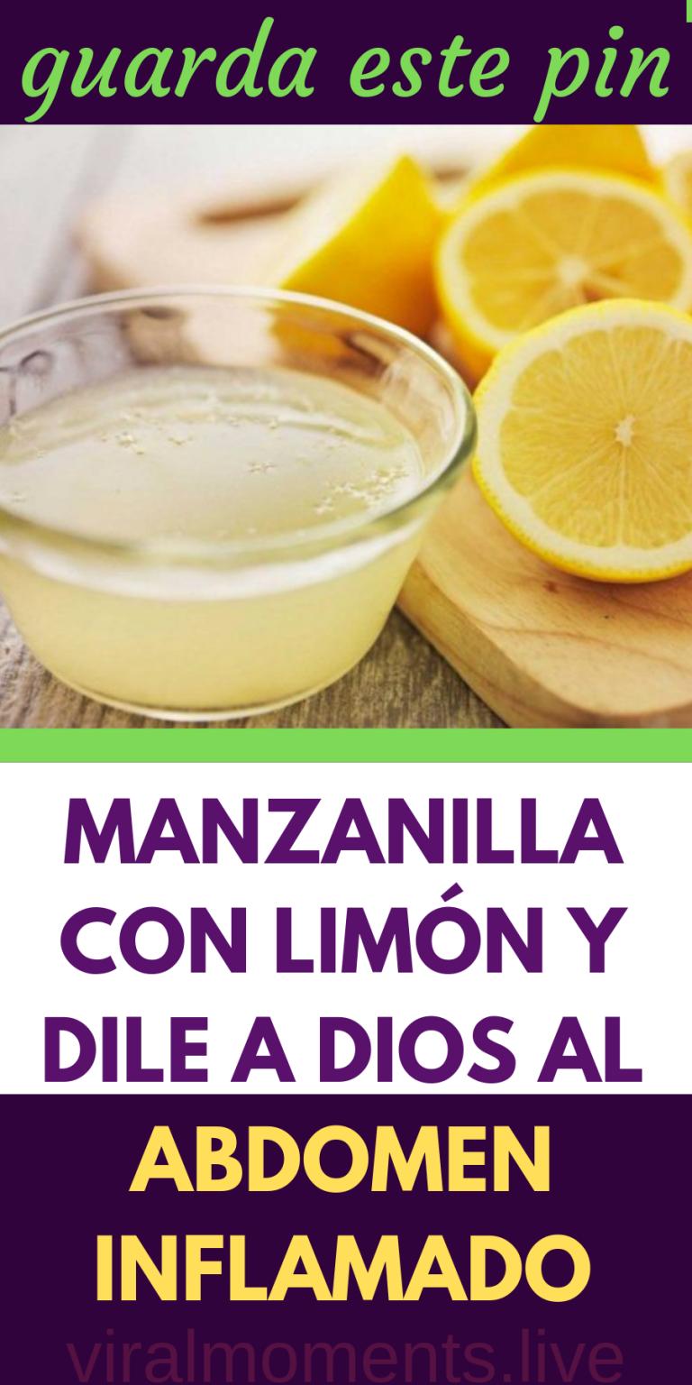 Manzanilla con limon para bajar de peso