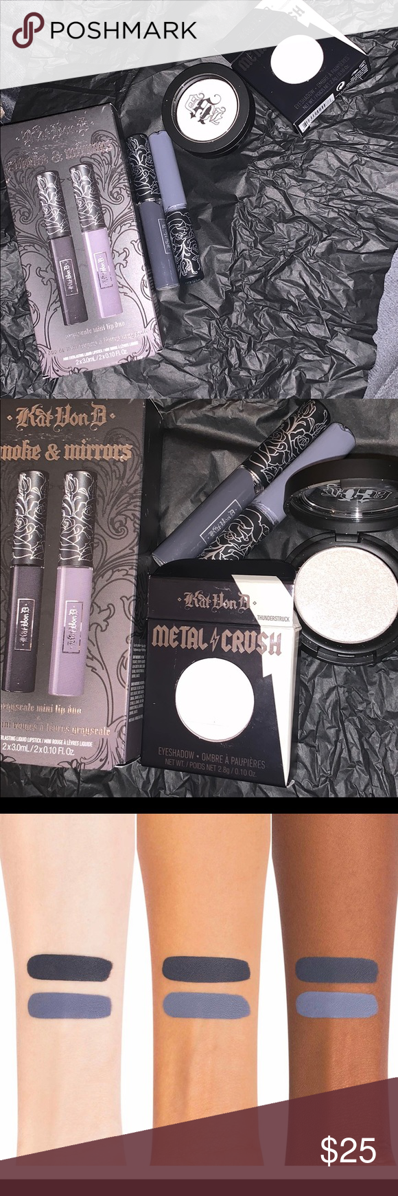 Brand new Kat Von D makeup Trial size of the smoke and