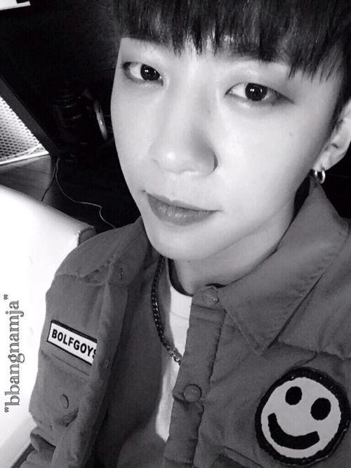 Bang selca on Bangstergram this photo is so peaceful ☺️ #bap #yongguk #bangyongguk #byg #kpop #babyz #selfie #selca