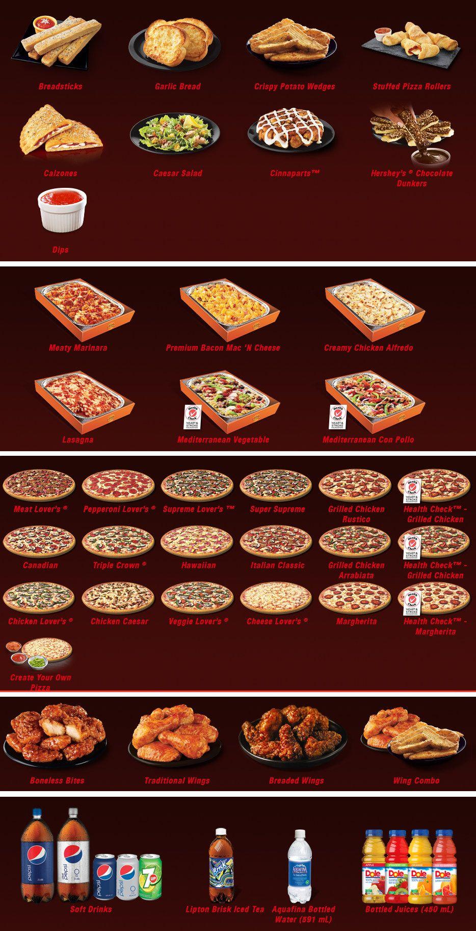 Pizza Hut Menu Fast Food Menu Pizza Hut Menu Pizza Hut