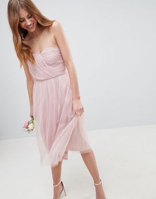 71ae44767ab ASOS DESIGN bridesmaid bandeau tulle midi dress | Wedding general ...