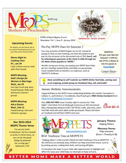 Our Mops Newsletter For January 2014 Aaa Projects Pinterest