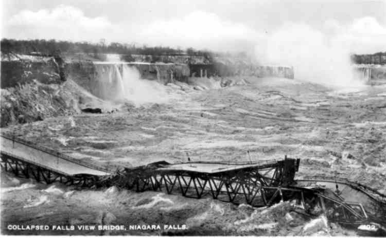 Collapsed Falls Bridge Niagara Falls History Honeymoon Bridge Niagara