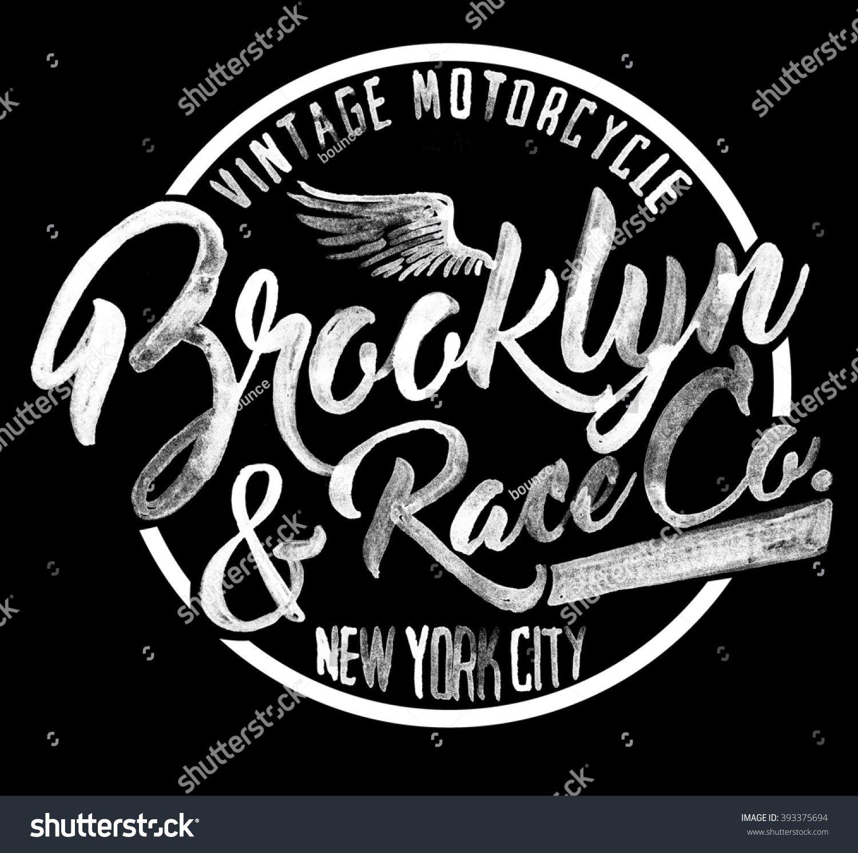 brooklyn watercolor graphic Diseños de letras, Logotipos