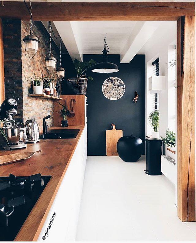 "Photo of Man of Many on Instagram: ""Kitchen styling – via @jellinadetmar"""