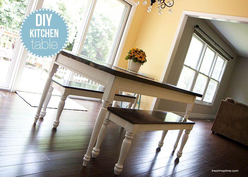 Bricolaje mesa de cocina de la casa en iheartnaptime.com   cosas con ...