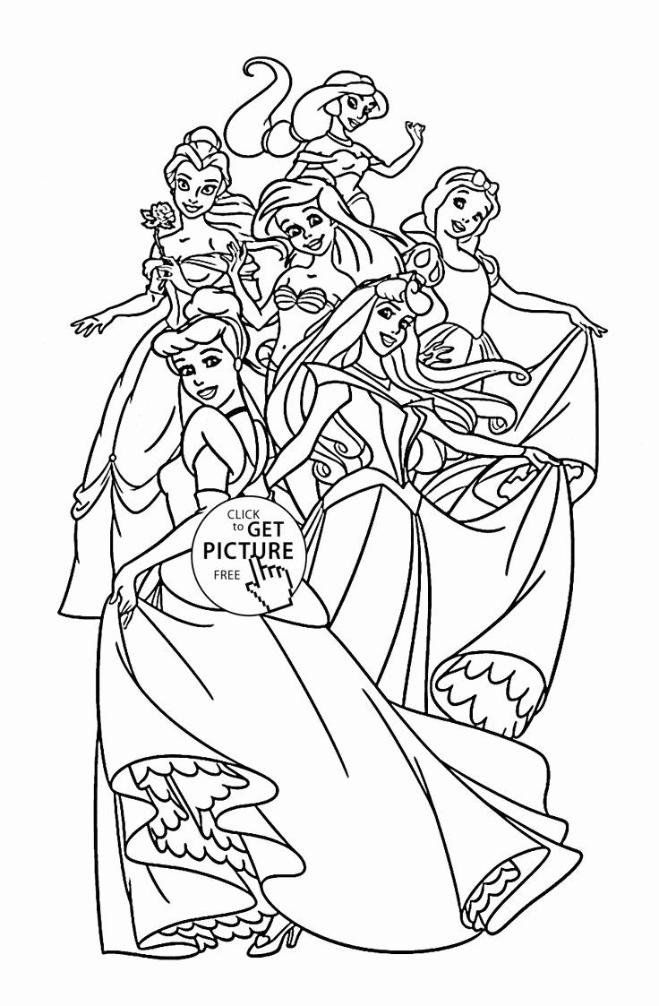 Disney Princesses Printable Coloring Pages Lovely 57 Best