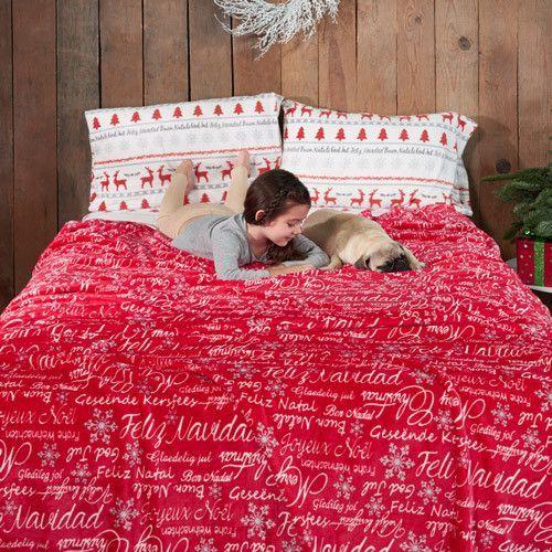 54010 Cobertor Ligero Frazada Navidad Vianney