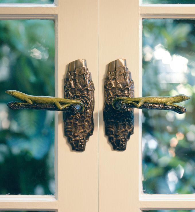 Martin Pierce Hardware - Lizard: custom bronze door pulls & door ...