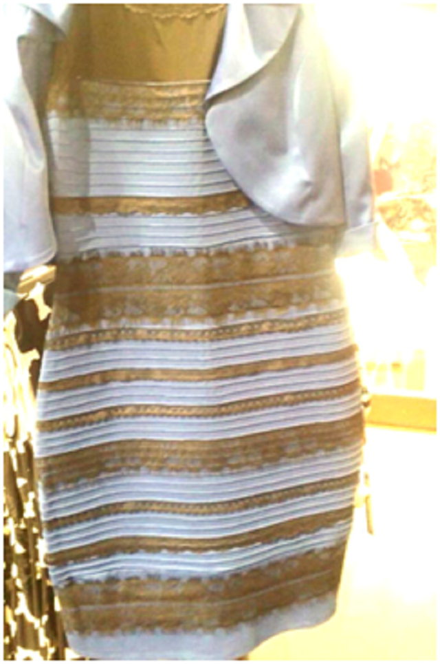 White and gold dress or blue and black illusion