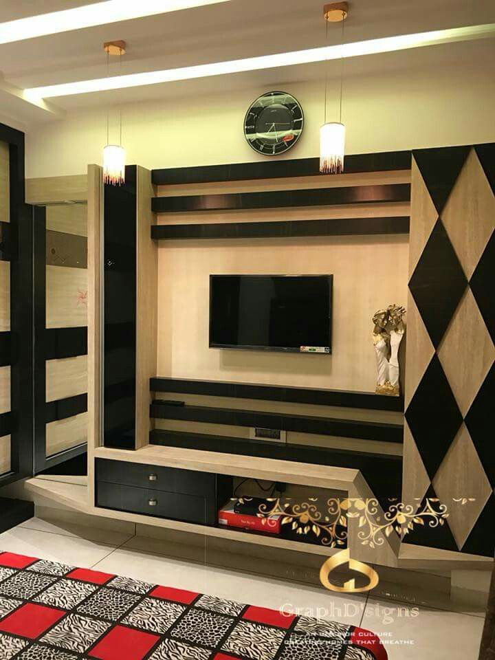 Lcd Panel Design Interior: Tv Unit Designs For Living Room Call KUMAR INTERIOR THANE
