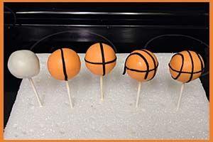 Make Basketball Cake Pops Little Delights 2nd birthday boys