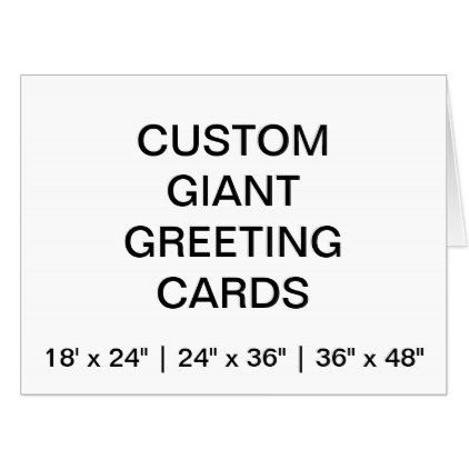 Custom Personalized 48\ - greeting card template