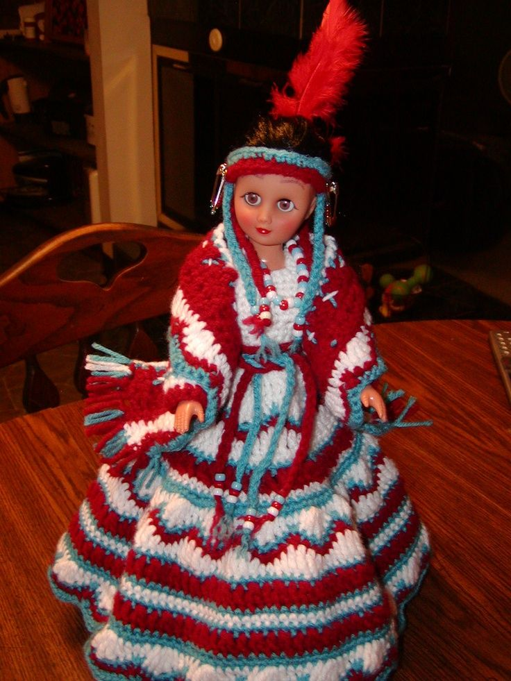Herrschners Free Patterns For Indian Dolls Crocheted Indian