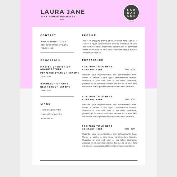 Resume Types Resume Template Cover Letter Template For Word Diycaferesume .