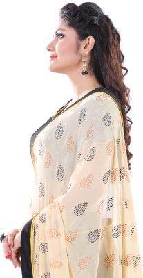 Club Art Decor Embellished Fashion Handloom Georgette Sari - Buy Black, Beige Club Art Decor Embellished Fashion Handloom Georgette Sari Online at Best Prices in India | Flipkart.com