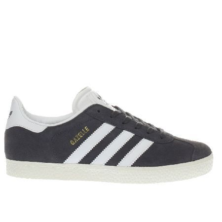 Adidas dark grey adi gazelle yth unisex youth Staying true to its roots the adidas Gazelle arrives in miniature form to throw some 90s vibes str