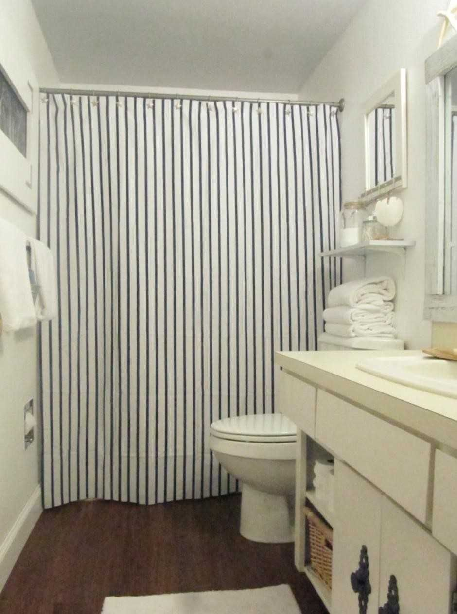 Grey And White Vertical Stripe Shower Curtain | http://legalize-crew ...