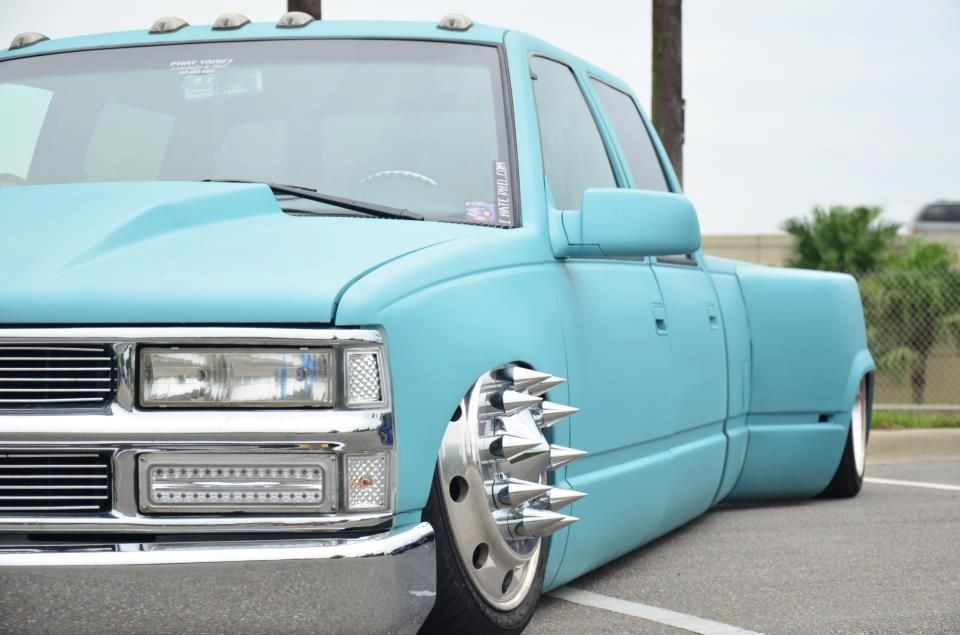 Bagged Chevy Dually With Images Lowrider Trucks Cool Trucks
