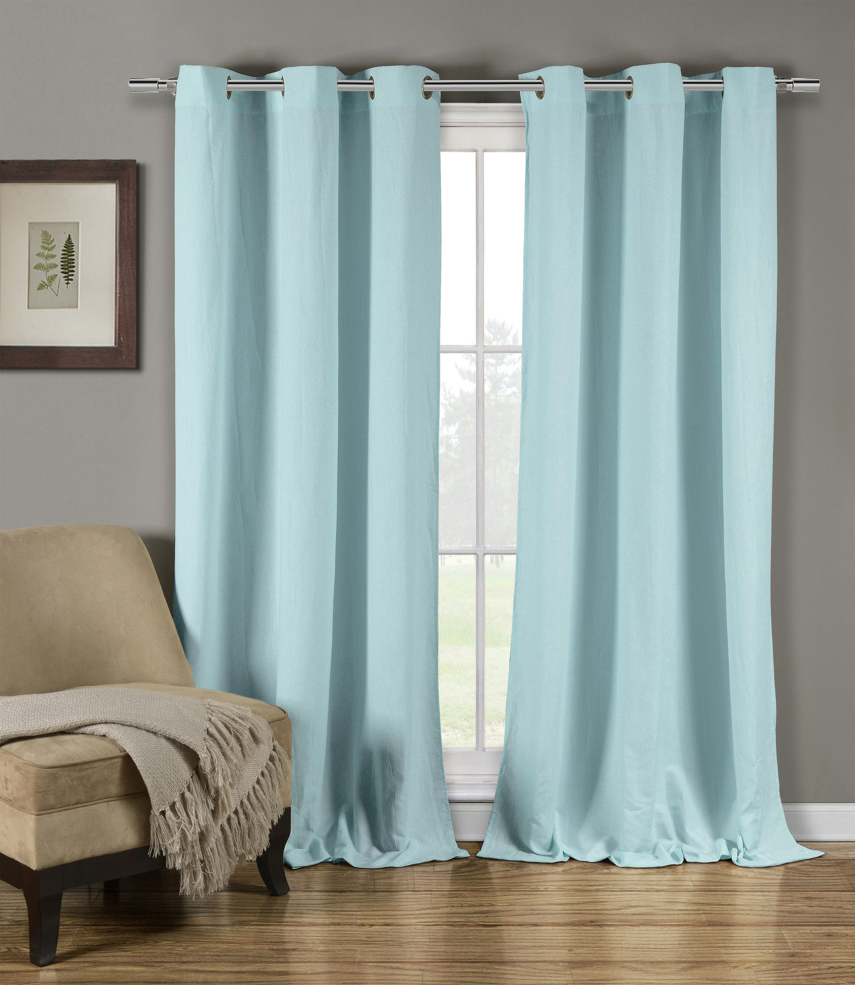 Mildred Solid Semi-Sheer Grommet Panel Pair