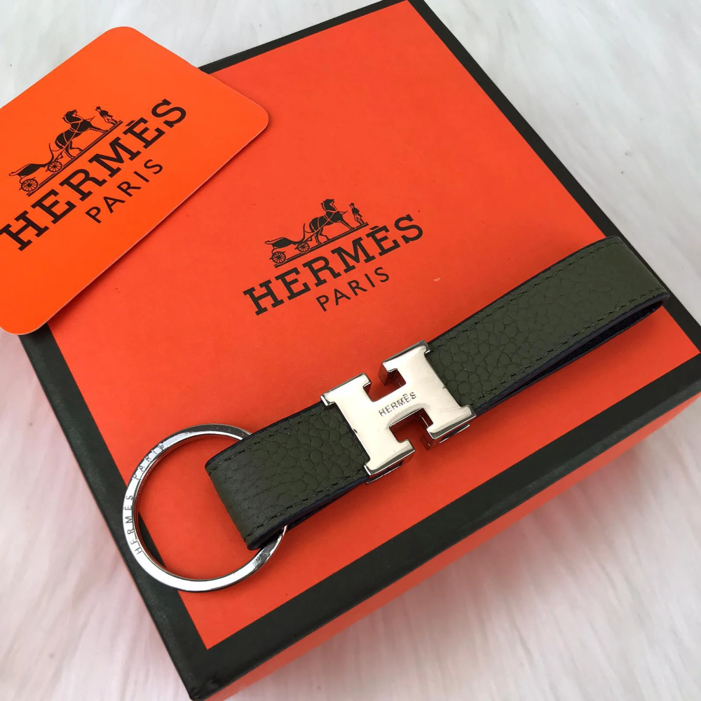 Hermes Vintage H Keychain Vintage Hermes Keychain Leather Keychain