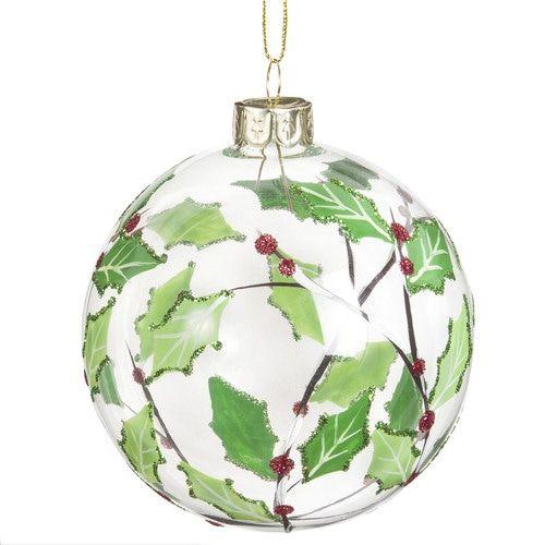 Boule En Verre Transparent Imprime Vegetal GUI Christmas BaublesChristmas DecorationsChristmas