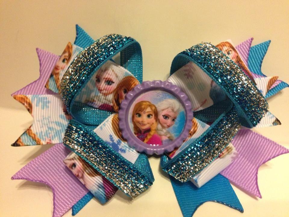 Frozen hair bow. Choice of clip or headband.
