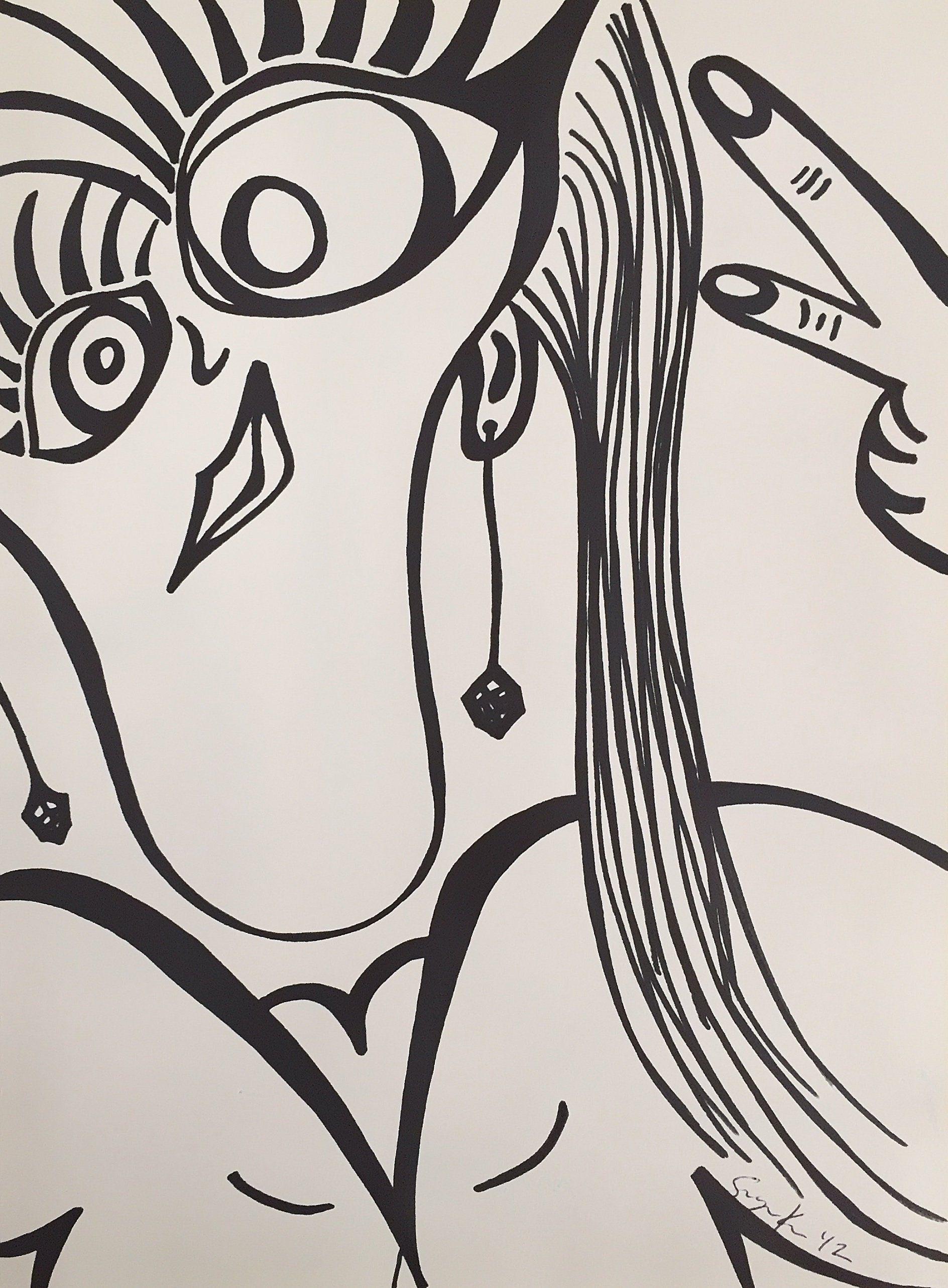 Character Drawings Marker Drawing Artwork Abstract Art