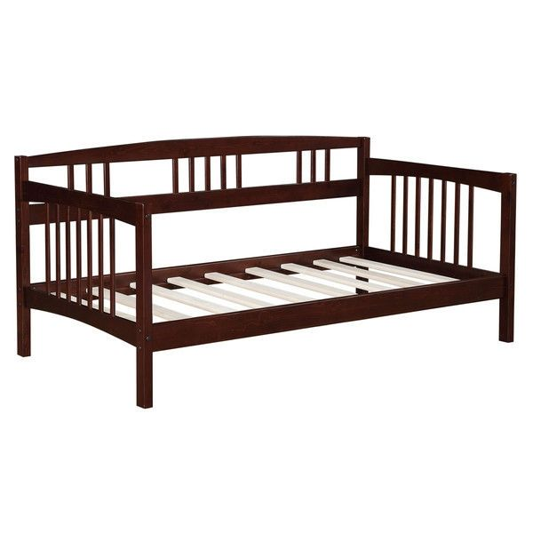 Twin Solid Wood Day Bed Frame In Espresso Finish With Images