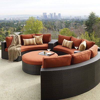 Circular Seating For Outdoor Meeting Space For Smaller
