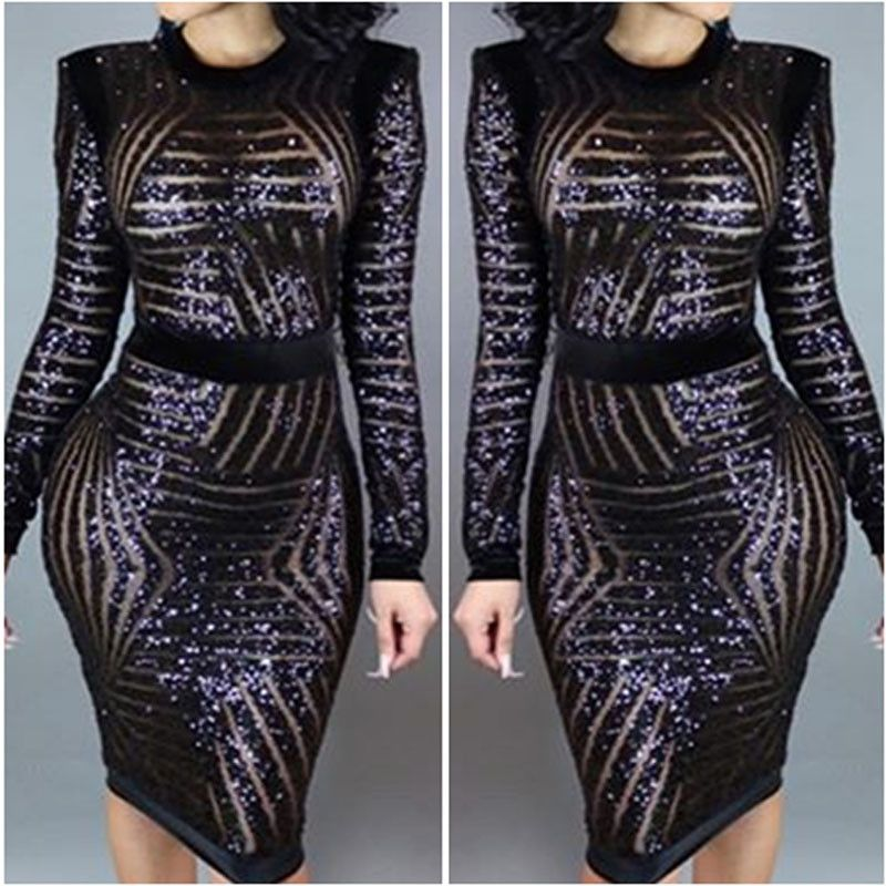 6f79946f528 Available in Large Sizes Women XXXL Plus Size Rose Gold Geometric Pattern Sequin  Bodycon Dress Womens Sexy Dresses Party Night Club Dress - On Trends Avenue