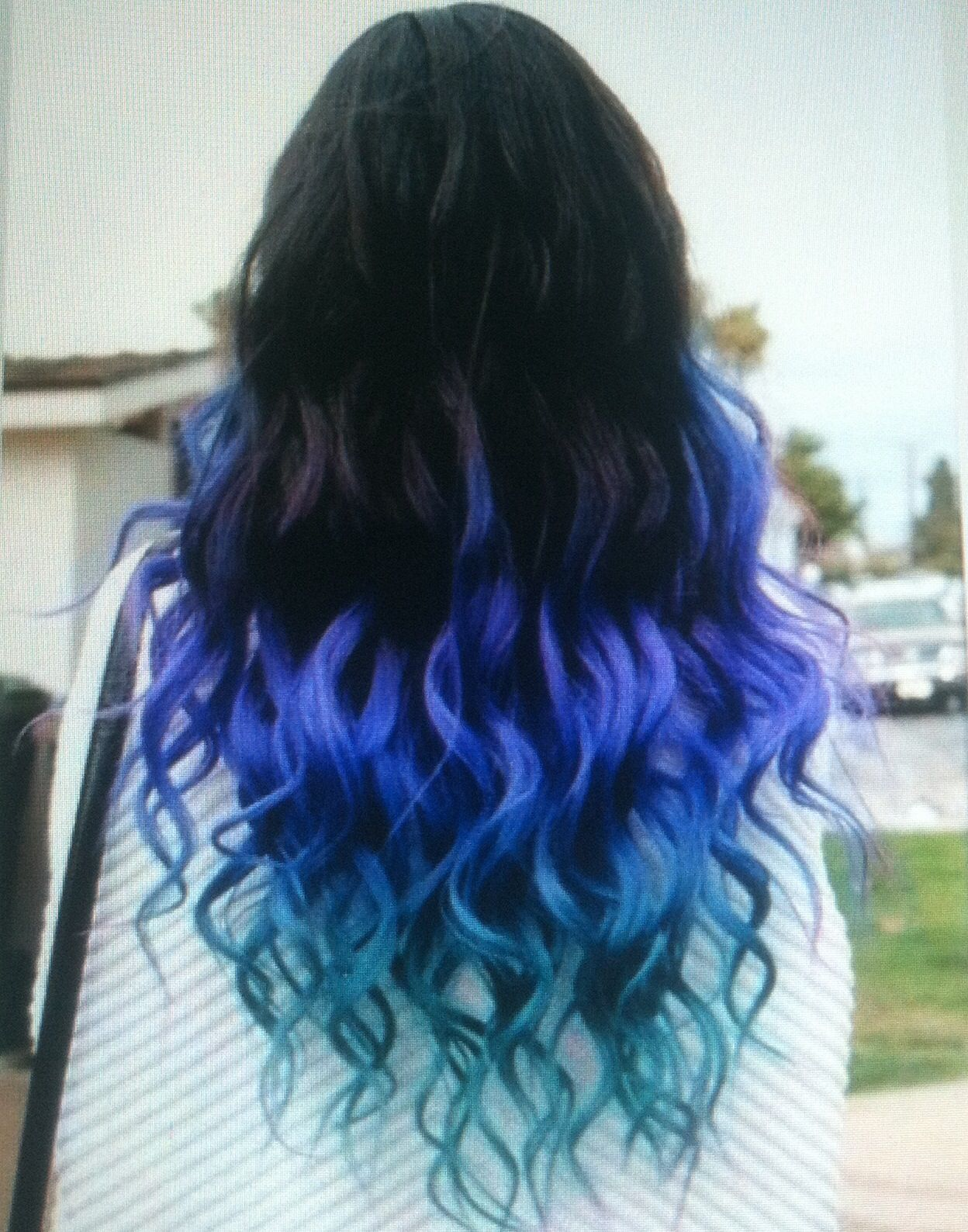 Colored Tips With Images Cute Hair Colors Colored Hair Tips