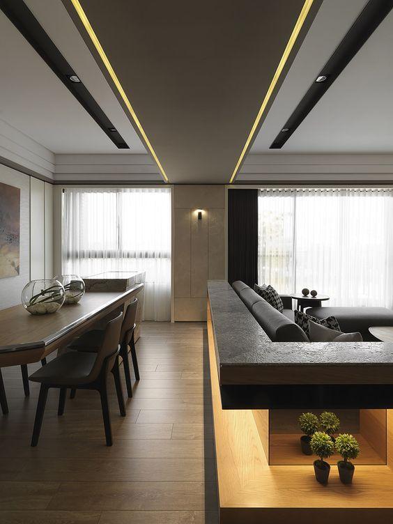 In linea con l 39 idea del divano che fa da divisione tra - Zona pranzo design ...