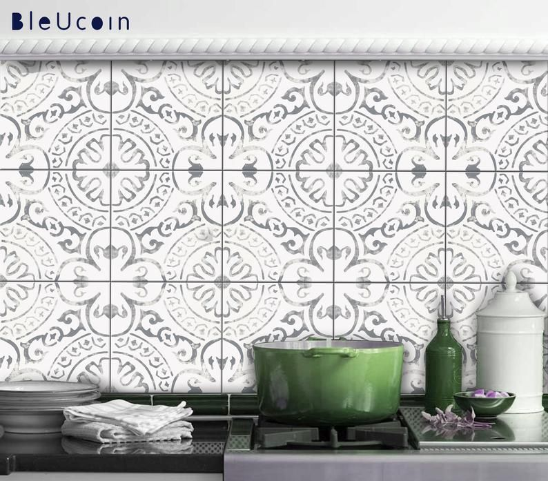 Amalfi Light Grey Tile Wall Stair Floor Self Adhesive Vinyl Etsy Flooring For Stairs Wall Tiles Self Adhesive Wall Tiles