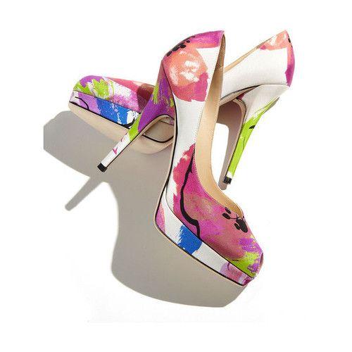 Chic high heels, Floral pumps, Heels