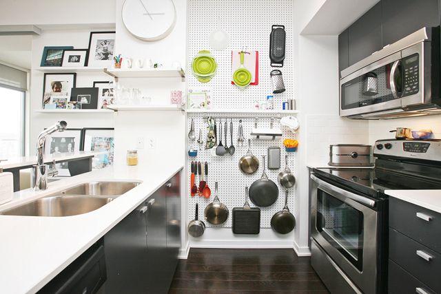 Awesome Kitchen Wall Storage Peg Board