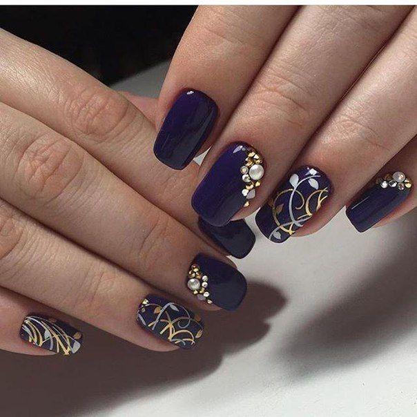 Pin by Mariya Stefanyshyn on Nail Art. | Pinterest | Winter nails ...