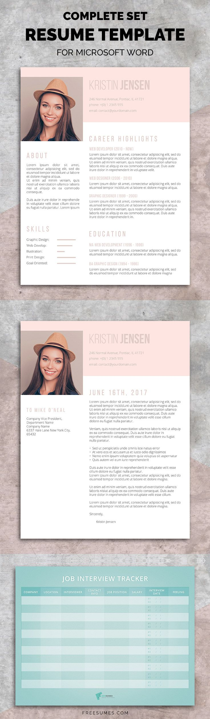 Sugar  Spice Premium Resume Set Lets Your Personality Shine
