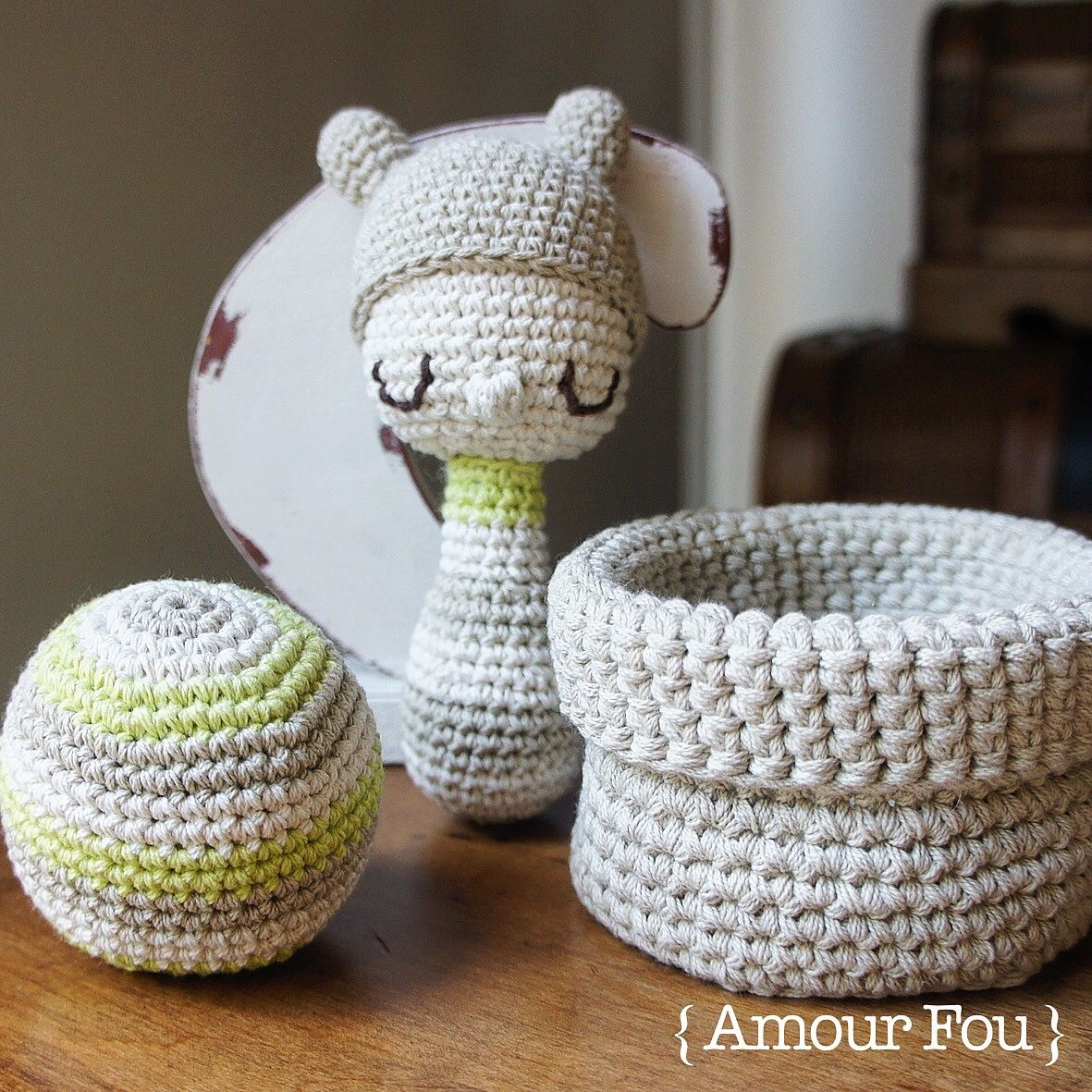 Free Crochet Pattern: Baby Rattles by {Amour Fou}   { Amour Fou ...