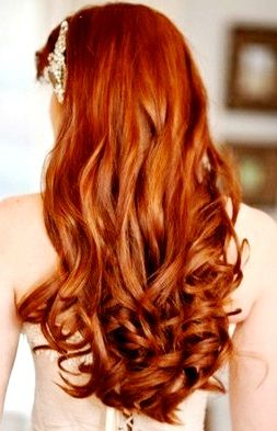 Bride S Long Down Curls Wedding Hair Ideas Toni Kami Wedding Hairstyles Lovely Ginger Hair Color Hair Styles Long Red Hair Long Hair Styles