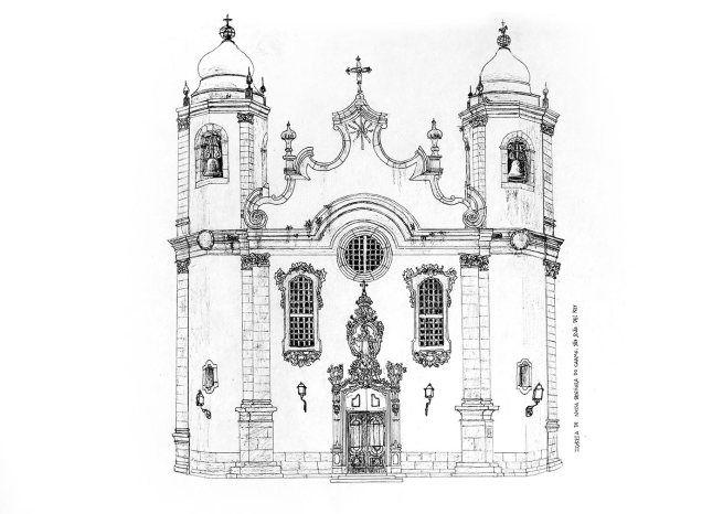 Igrejas Barrocas Brasileiras Igreja Barroco Desenhos De