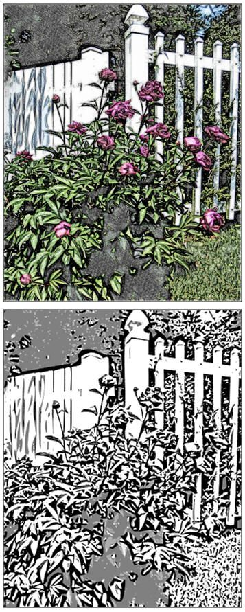 Download A Free Coloring Page Or Watercolor Sketch Of The Garden Fence
