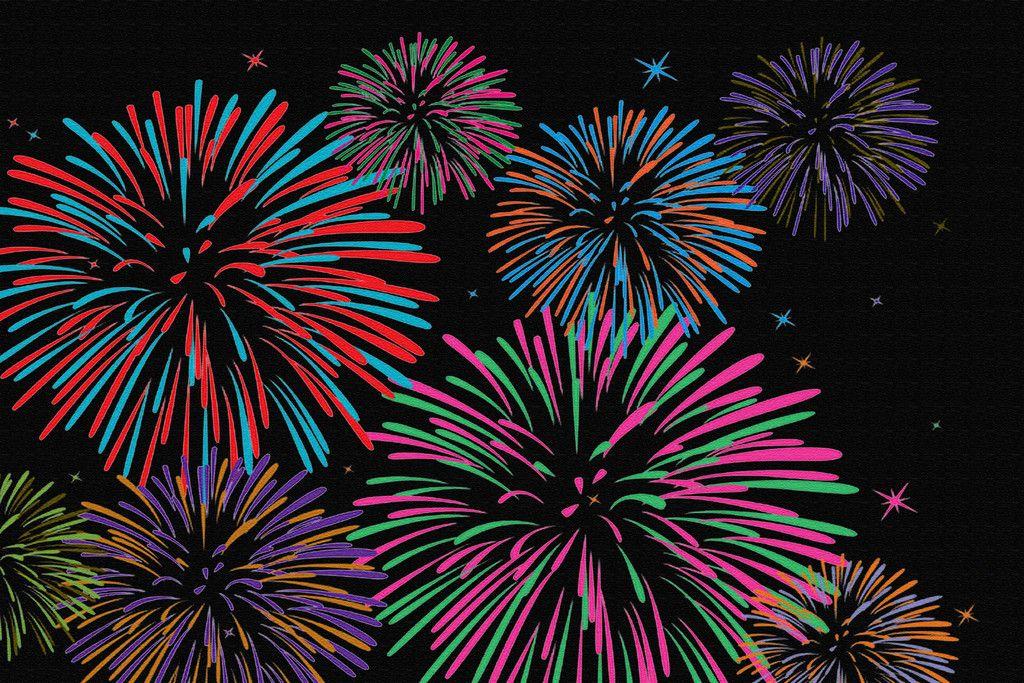 Fireworks new year rug in 2020 Fireworks, Firework
